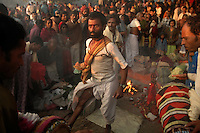 A Hindu priest performing black magic on the occassion of Kartik Purnima at Sonepur fair. Bihar, India, Arindam Mukherjee.