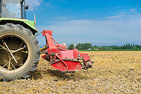 agricultural machinery on farmland