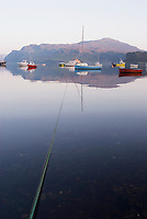 Evening reflections on Portree harbour