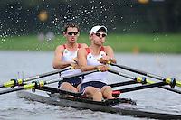 Amsterdam, NETHERLANDS, USA BLM2X,  2011 FISA U23 World Rowing Championships, Wednesday, 20/07/2011 [Mandatory credit:  Intersport Images]