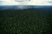 """The Amazon Rainforest is a moist broadleaf forest that covers most of the Amazon Basin of South America. The Amazon represents over half of the planet's remaining rainforests, and it comprises the largest and most species-rich tract of tropical rainforest in the world. The Amazon rainforest was short-listed in 2008 as a candidate to one of the New7Wonders of Nature by the New Seven Wonders of the World Foundation. As of February 2009 the Amazon was ranking first in Group E, the category for forests, national parks and nature reserves. The name Amazon is said to arise from a war Francisco de Orellana fought with a tribe of Tapuyas and other tribes from South America. The women of the tribe fought alongside the men, as was the custom among the entire tribe. Orellana's descriptions may have been accurate, but a few historians speculate that Orellana could have been mistaking indigenous men wearing """"grass skirts"""" for women. Orellana derived the name Amazonas from the ancient Amazons of Asia and Africa described by Herodotus and Diodorus in Greek legends. Another etymology for the word suggests that it came originally from a native word amazona (Spanish spelling) or amassona (Portuguese spelling), meaning """"destroyer (of) boats"""", in reference to the destructive nature of the root system possessed by some riparian plants."""