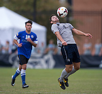 Tyler Rudy (13) of Georgetown controls the ball during the game at Shaw Field on the campus of the Georgetown University in Washington, DC.  Georgetown tied Creighton, 0-0, in double overtime.
