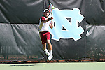 08 May 2015: Henry Craig. The University of Denver Pioneers played the Mississippi State University Bulldogs at Cone-Kenfield Tennis Center in Chapel Hill, North Carolina in a 2015 NCAA Division I Men's Tennis Tournament First Round match. MSU won the match 4-3.