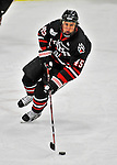 28 January 2012: Northeastern University Huskies' forward Ludwig Karlsson, a Freshman from Stockholm, Sweden, in action against the University of Vermont Catamounts at Gutterson Fieldhouse in Burlington, Vermont. The Huskies defeated the Catamounts 4-2 in the second game of their 2-game Hockey East weekend series. Mandatory Credit: Ed Wolfstein Photo