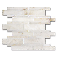 Del Greco, shown in a mix of honed and polished Cloud Nine is part of New Ravenna's Studio Line. All mosaics in this collection are ready to ship within 48 hours.<br />