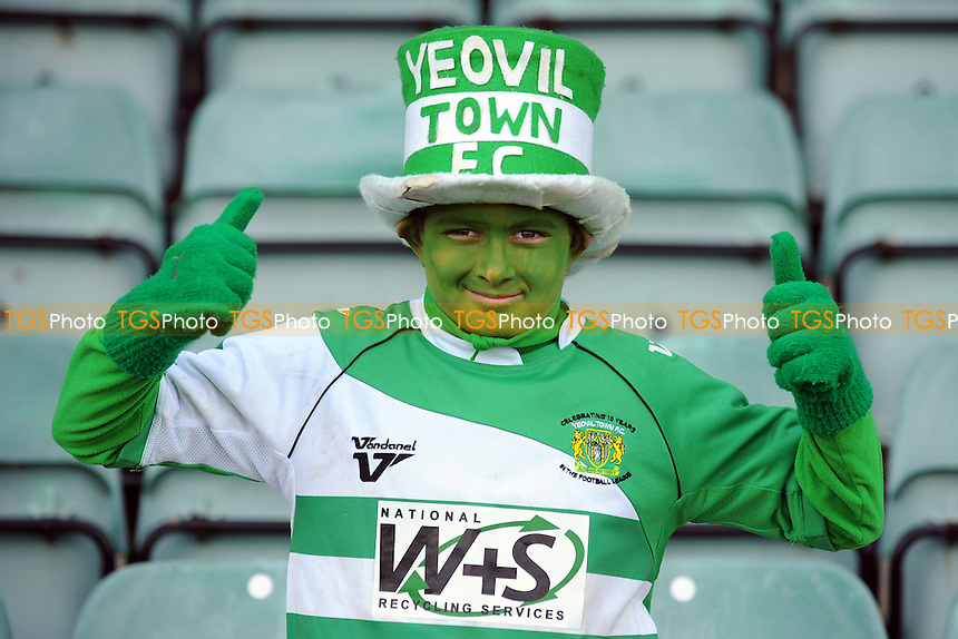 Yeovil Town trainee mascot - Yeovil Town vs Walsall - NPower League One Football at Huish Park, Yeovil, Somerset - 29/03/13 - MANDATORY CREDIT: Denis Murphy/TGSPHOTO - Self billing applies where appropriate - 0845 094 6026 - contact@tgsphoto.co.uk - NO UNPAID USE.