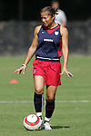 22 October 2005: US National Team member Lorrie Fair. The United States and Mexico Women's National Teams practiced at Blackbaud Stadium in Charleston, South Carolina before an International Friendly soccer match.