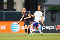 14 MAY 2011: USA Women's National Team defender Becky Sauerbrunn (3) and Japan National team Yuki Nagasato during the International Friendly soccer match between Japan WNT vs USA WNT at Crew Stadium in Columbus, Ohio.