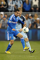 Andrea Romero (15) forward Montreal Impact in action..Sporting Kansas City defeated Montreal Impact 2-0 at Sporting Park, Kansas City, Kansas.
