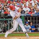 7 October 2016: Washington Nationals third baseman Anthony Rendon at bat during the NLDS Game 1 against the Los Angeles Dodgers at Nationals Park in Washington, DC. The Dodgers edged out the Nationals 4-3 to take the opening game of their best-of-five series. Mandatory Credit: Ed Wolfstein Photo *** RAW (NEF) Image File Available ***
