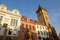 Prague Old Town Square Hall buildings