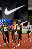 EUGENE, OR--Maria Mutola  wins her 15th straight women's 800 meters over Kenia Sinclair at the Steve Prefontaine Classic, Hayward Field, Eugene, OR. SUNDAY, JUNE 10, 2007. PHOTO © 2007 DON FERIA