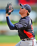 4 March 2011: Atlanta Braves infielder Freddie Freeman in action during a Spring Training game against the Washington Nationals at Space Coast Stadium in Viera, Florida. The Braves defeated the Nationals 6-4 in Grapefruit League action. Mandatory Credit: Ed Wolfstein Photo