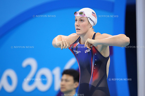 Missy Franklin (USA), <br /> AUGUST 8, 2016 - Swimming : <br /> Women's 200m Freestyle Heat <br /> at Olympic Aquatics Stadium <br /> during the Rio 2016 Olympic Games in Rio de Janeiro, Brazil. <br /> (Photo by Yohei Osada/AFLO SPORT)