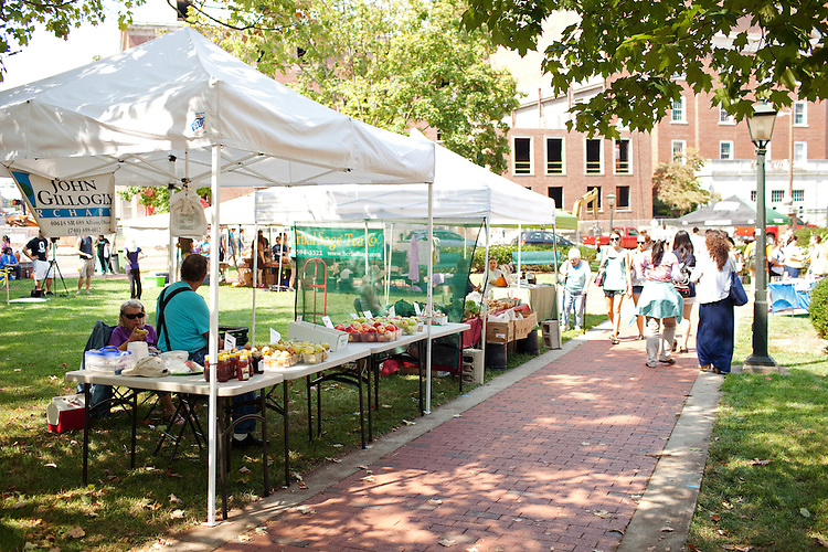Multiple local vendors displayed and sold their wares at the Ohio University Mini Farmers Market on September 7, 2012. (Ohio University, Chris Franz)