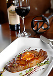 Steak with JW Brand and Red Wine