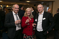 Pictured from left are John Read of Arup Dianne Allen of Gemini PR & Marketing and Mark Deakin of Turner & Townsend