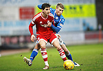 St Johnstone v Aberdeen...06.02.16   SPFL   McDiarmid Park, Perth<br /> Kenny McLean and David Wotherspoon<br /> Picture by Graeme Hart.<br /> Copyright Perthshire Picture Agency<br /> Tel: 01738 623350  Mobile: 07990 594431