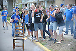 UK fans before the UK vs UConn game on University street in Lexington, Ky., on 4/2/11. . Photo by Mike Weaver | Staff