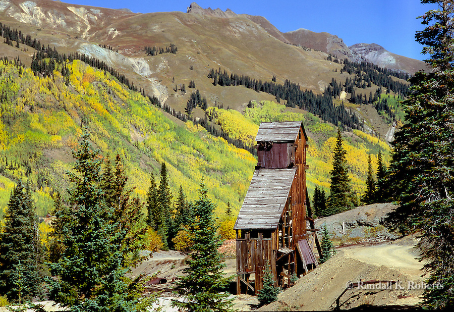 Abandoned mine ruin near Red Mountain Pass, off the Million Dollar Highway, north of Silverton, Colorado
