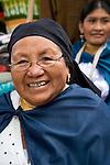Women in Colorful marketplace in Ecuador