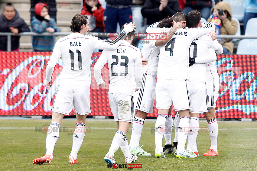 Real Madrid's players celebrate goal during La Liga match.January 18,2013. (ALTERPHOTOS/Acero) /NortePhoto<br />