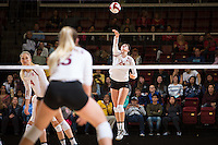 STANFORD, CA - October 15, 2016: Audriana Fitzmorris at Maples Pavilion. The Cardinal defeated the Arizona State Sun Devils 3-1.