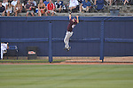 Mississippi State's Brent Brownlee watches Will Allen's home run clear the fence at Oxford-University Stadium in Oxford, Miss. on Thursday, May 12, 2011. Mississippi State won 7-6. (AP Photo/Oxford Eagle, Bruce Newman)