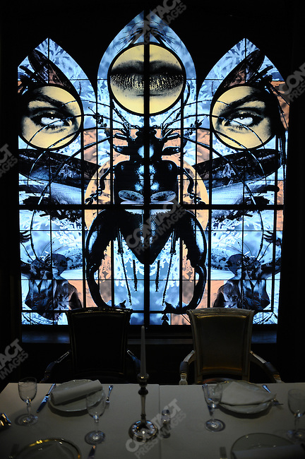 One of the windows at Bon restaurant in Moscow designed by Philippe Starck. Moscow, Russia, July 11, 2009