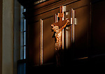 10.12.12 Oak Room Crucifix 2.JPG by Matt Cashore/University of Notre Dame