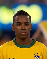 Brazil forward Robinho (7). Brazil  defeated the US men's national team, 2-0, in a friendly at Meadowlands Stadium on August 10, 2010.