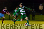 7 Celtic scores the winning goal to give Killarney Celtic a famous victory against Mervue during their FAI cup tie in Celtic Park on Saturday night