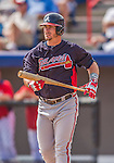 11 March 2013: Atlanta Braves infielder Joey Terdoslavich in action during a Spring Training game against the Washington Nationals at Space Coast Stadium in Viera, Florida. The Braves defeated the Nationals 7-2 in Grapefruit League play. Mandatory Credit: Ed Wolfstein Photo *** RAW (NEF) Image File Available ***