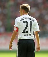 FUSSBALL   1. BUNDESLIGA  SAISON 2011/2012   4. Spieltag 1. FC Kaiserslautern - FC Bayern Muenchen         27.08.2011 Philipp Lahm (FC Bayern Muenchen)