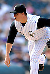 26 August 2007:  Colorado Rockies pitcher Matt Herges in action against the Washington Nationals at Coors Field in Denver, Colorado. The Rockies defeated the Nationals 10-5 to sweep the 3-game series...Mandatory Photo Credit: Ed Wolfstein Photo