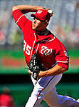 25 September 2010: Washington Nationals pitcher Craig Stammen on the mound against the Atlanta Braves at Nationals Park in Washington, DC. The Braves shut out the Nationals 5-0 to even their 3-game series at one win apiece. The Braves' victory was the 2500th career win for skipper Bobby Cox. Cox will retire at the end of the 2010 season, crowning a 29-year managerial career. Mandatory Credit: Ed Wolfstein Photo