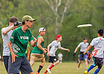 21 May 2016: The Vermont Commons School Flying Turtles take on Ottawa JV on the first day of the Pioneer Valley Ultimate Disk Invitational Tournament at the Oxbow Marina Fields in Northampton, Massachusetts. The Turtles defeated Ottawa 15-5 in their second game of the tournament. Mandatory Credit: Ed Wolfstein Photo *** RAW (NEF) Image File Available ***