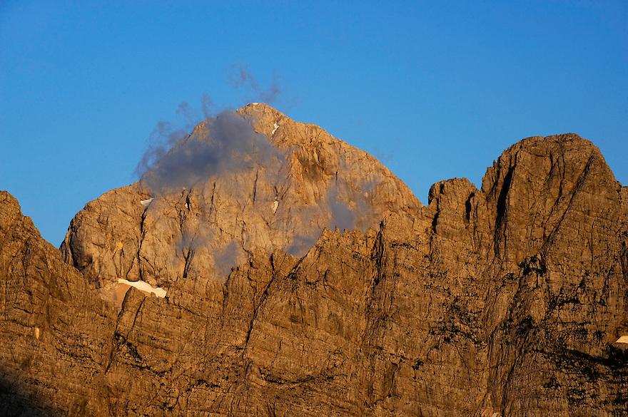 Peak of Mount Triglav, Julian Alps<br /> Triglav National Park, Slovenia<br /> July 2009