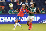 16 October 2014: Cristin Granaldos (CRC) (15) and Liliana Mercado (MEX) (6). The Mexico Women's National Team played the Costa Rica Women's National Team at Sporting Park in Kansas City, Kansas in a 2014 CONCACAF Women's Championship Group B game, which serves as a qualifying tournament for the 2015 FIFA Women's World Cup in Canada. Costa Rica won the game 1-0.