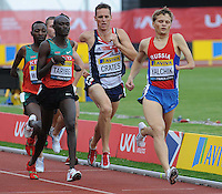 Russian Alexander Yalchik takes the lead during the Men's T46-800m race, which was won by Kenya's Abraham Tarbei in 1:56.77 with Gt.Britain's Danny Crates finishing 3rd in 1:57.78. This was also the final race of his long career.