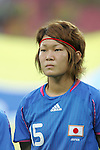 21 August 2008: Mizuho Sakaguchi (JPN). Germany's Women's National Team defeated Japan's Women's National Team 2-0 at the Worker's Stadium in Beijing, China in the Bronze Medal match in the Women's Olympic Football tournament.
