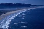 Neahkahnie beach viewpoint with fog and beach Northern Oregon coast Oregon State USA