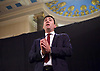Andy Burnham Labour Leadership campaign rally at St Pancras Parish Church, Euston Rd, London, Great Britain <br /> <br /> 24th August 2015<br /> <br /> Andy Burnham delivers a speech at a campaign rally in Central London <br /> <br /> Member of Parliament for Leigh since 2001 and the Shadow Secretary of State for Health since 2011<br /> <br /> Photograph by Elliott Franks <br /> <br /> Image licensed to Elliott Franks Photography Services