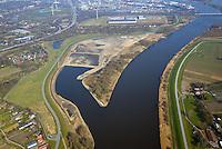 Kreetsand: EUROPA, DEUTSCHLAND, HAMBURG 02.04.2016:   Tiedeelbe Konzept Kreetsand, Hamburg Port Authority (HPA), soll auf der Ostseite der Elbinsel Wilhelmsburg zusaetzlichen Flutraum für die Elbe schaffen. Das Tidevolumen wird durch diese strombauliche Massnahme vergroessert und der Tidehub reduziert. Gleichzeitig ergeben sich neue Moeglichkeiten für eine integrative Planung und Umsetzung verschiedenster Interessen und Belange aus Hochwasserschutz, Hafennutzung, Wasserwirtschaft, Naturschutz und Naherholung.