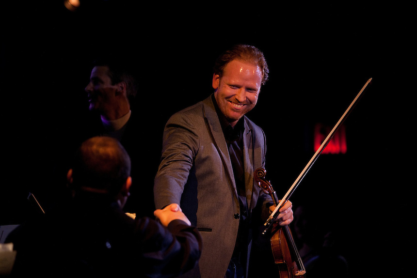 Violinist Daniel Hope after performing at Le Poisson Rouge on October 24, 2011.