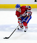 26 October 2009: Montreal Canadiens' right wing forward Matt D'Agostini controls the play during a game against the New York Islanders at the Bell Centre in Montreal, Quebec, Canada. The Canadiens defeated the Islanders 3-2 in sudden death overtime for their 4th consecutive win. Mandatory Credit: Ed Wolfstein Photo