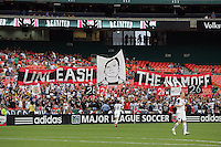 Fan display a tribute to Bryan Namoff #26 of D.C. United during an MLS match against Real Salt Lake at RFK Stadium, on June 5 2010 in Washington DC. The game ended in a 0-0 tie.