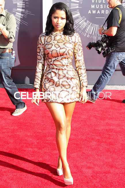 LOS ANGELES, CA, USA - AUGUST 24: Nicki Minaj at the 2014 MTV Video Music Awards held at The Forum on August 24, 2014 in the Los Angeles, California, United States. (Photo by Xavier Collin/Celebrity Monitor)