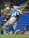 St Johnstone v Falkirk&hellip;23.07.16  McDiarmid Park, Perth. Betfred Cup<br />Graham Cummins and Luca Gasparotto<br />Picture by Graeme Hart.<br />Copyright Perthshire Picture Agency<br />Tel: 01738 623350  Mobile: 07990 594431
