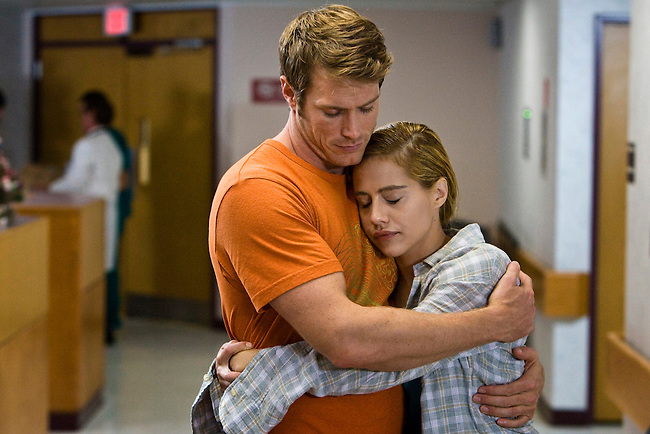 Jason Lewis as Ford Sawyer and Brittany Murphy as Cilla McGowan in the Lifetime Original Movie Nora Roberts' 'Tribute.'